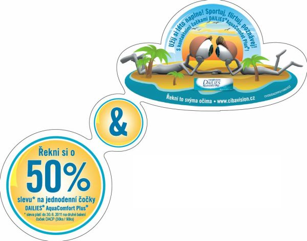 akce kontaktní čočky Dailies aquaComfort Plus
