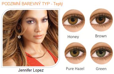 barevné čočky na hnědé oči