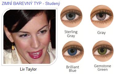 barevné čočky pro tmavé oči