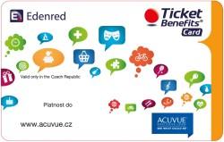 Ticket Benefit karta k ACUVUE čočkám